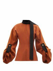 Acne Studios - Dramatic Mohair Blend Sweater - Womens - Light Blue