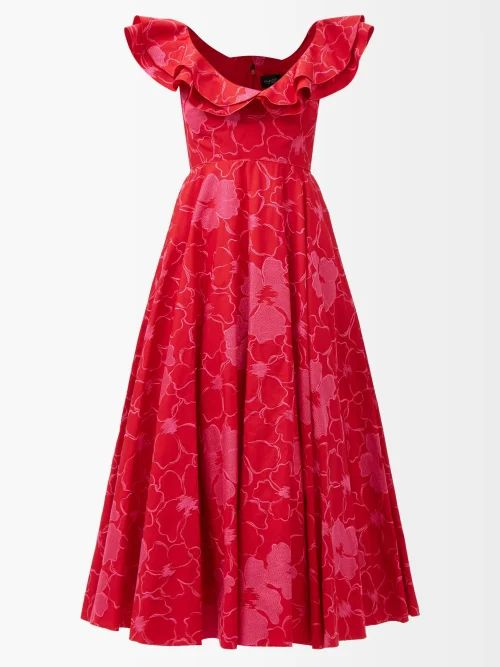 Acne Studios - Shearling Collar Leather Biker Jacket - Womens - Black