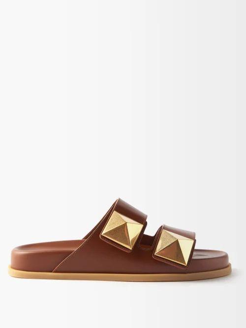 Roland Mouret - Fellini Floral Cotton Blend Skirt - Womens - Navy White