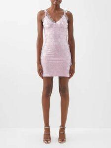 Ann Demeulemeester - Belted Crinkled Satin Skirt - Womens - Brown