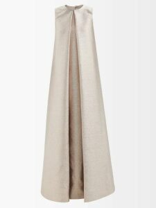 Charles Jeffrey Loverboy - Striped Halterneck Cotton Twill Waistcoat - Womens - Navy Multi