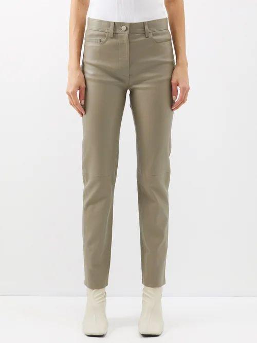Alexachung - Puppytooth A Line Wool Blend Skirt - Womens - Black White
