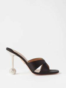Preen By Thornton Bregazzi - Irene Off The Shoulder Silk Dress - Womens - Black Multi