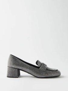 Anna October - Bow Embellished Floral Print Dress - Womens - Blue Multi