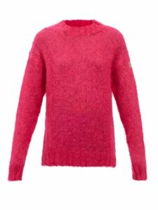 Wales Bonner - Double Breasted Felt Coat - Womens - Navy