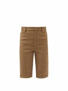 Miu Miu - Patch Pocket Long Shearling Coat - Womens - Black Brown