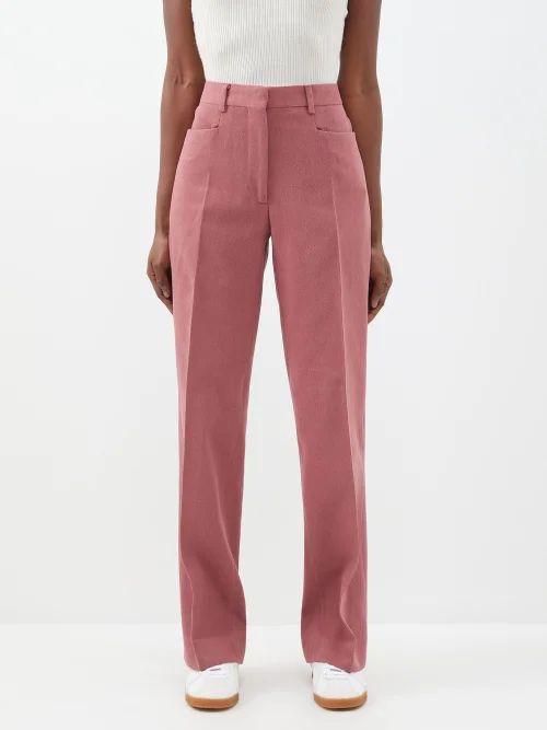 Altuzarra - Crane Satin Pencil Skirt - Womens - Black