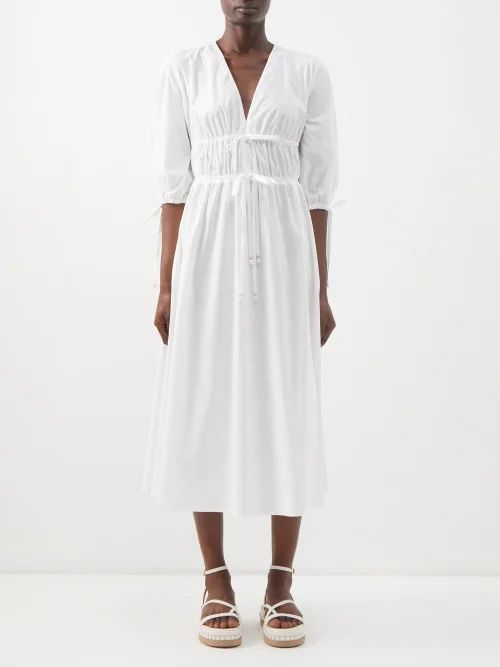 Gabriela Hearst - Severino Wool Crepe Midi Skirt - Womens - Pink