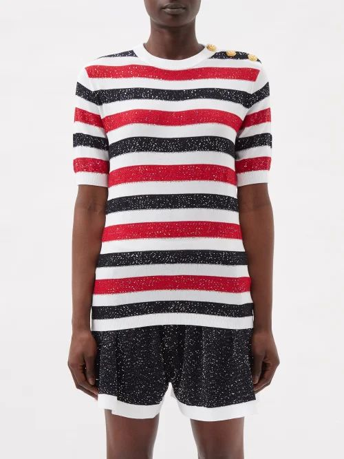 Colville - Hooded Cotton Cropped Parka - Womens - Beige