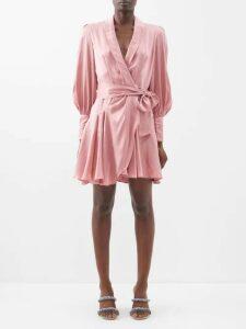 The Row - Veronia Merino Wool Blend Dress - Womens - Navy