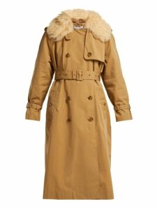 Elizabeth And James - Stratford Shearling Trimmed Trench Coat - Womens - Camel