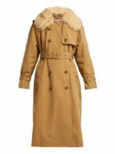 Elizabeth And James - Stratford Shearling Trimmed Trench Coat - Womens - Camel