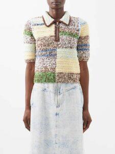 Isabel Marant - Tizy Paisley Print Silk High Neck Dress - Womens - Red Multi