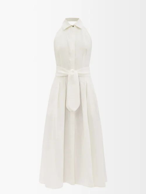 Roksanda - Leisha Hooded Checked Wool Coat - Womens - Yellow