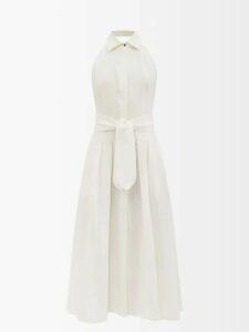 Roksanda - Leisha Hooded Checked Wool Coat - Womens - Yellow