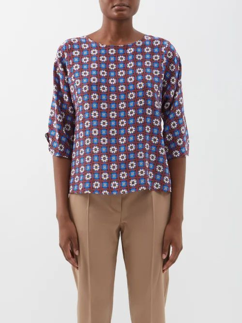 Balenciaga - Hourglass Tartan Virgin Wool Coat - Womens - Yellow Multi