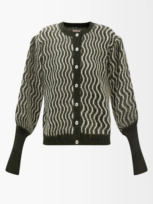 Dodo Bar Or - Crystal Embellished Leopard Jacquard Skirt - Womens - Black