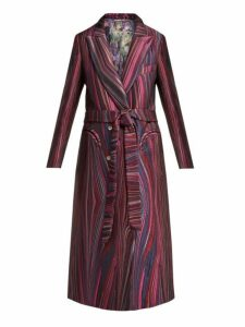 Blazé Milano - X Arizona Muse Sundance Striped Jacquard Coat - Womens - Pink Multi