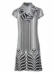 Womens *Izabel London Monochrome Abstract Shift Dress- Grey, Grey
