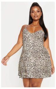Plus Brown  Leopard Swing Dress, Brown