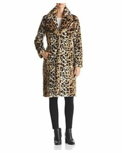 Kendall and Kylie Leopard Print Faux Fur Coat
