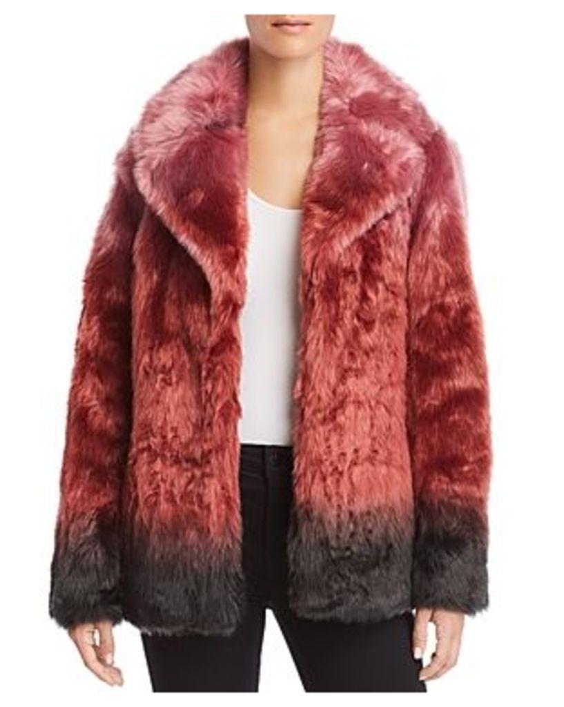 Unreal Fur Flaming Lips Faux Fur Coat