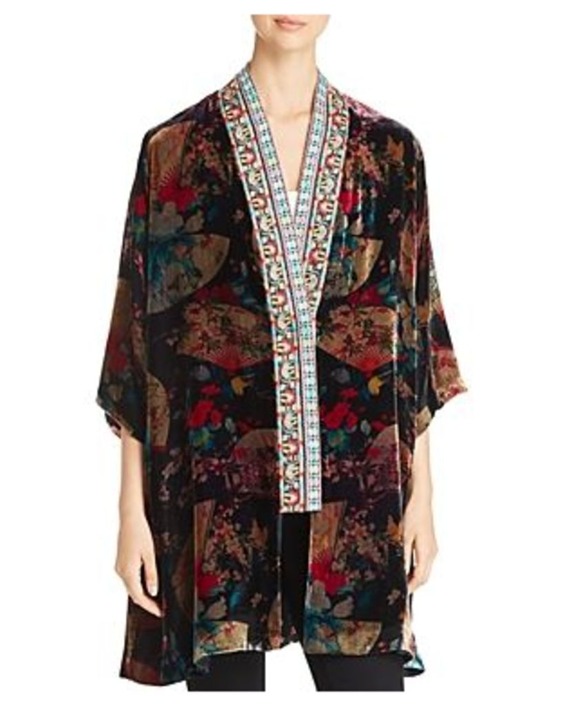 Johnny Was Fusai Velvet Kimono