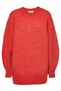 Closed Oversized Pullover with Alpaca and Mohair