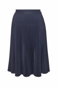 Maison Margiela Pleated Skirt with Cut-Out Detail