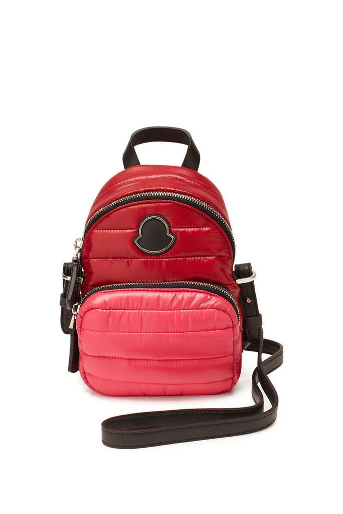 Moncler Kilia Mini Quilted Backpack with Leather