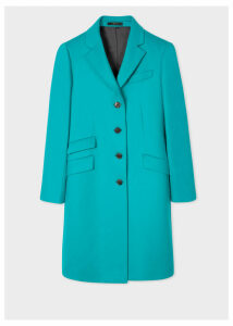 Women's Turquoise Wool And Cashmere-Blend Epsom Coat