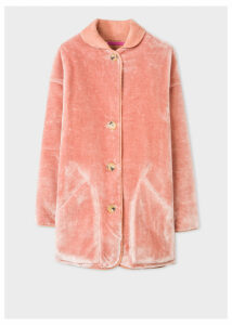 Women's Dusky Pink Faux Fur Reversible Coat