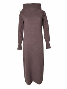 Fabiana Filippi Funnel Neck Long Dress
