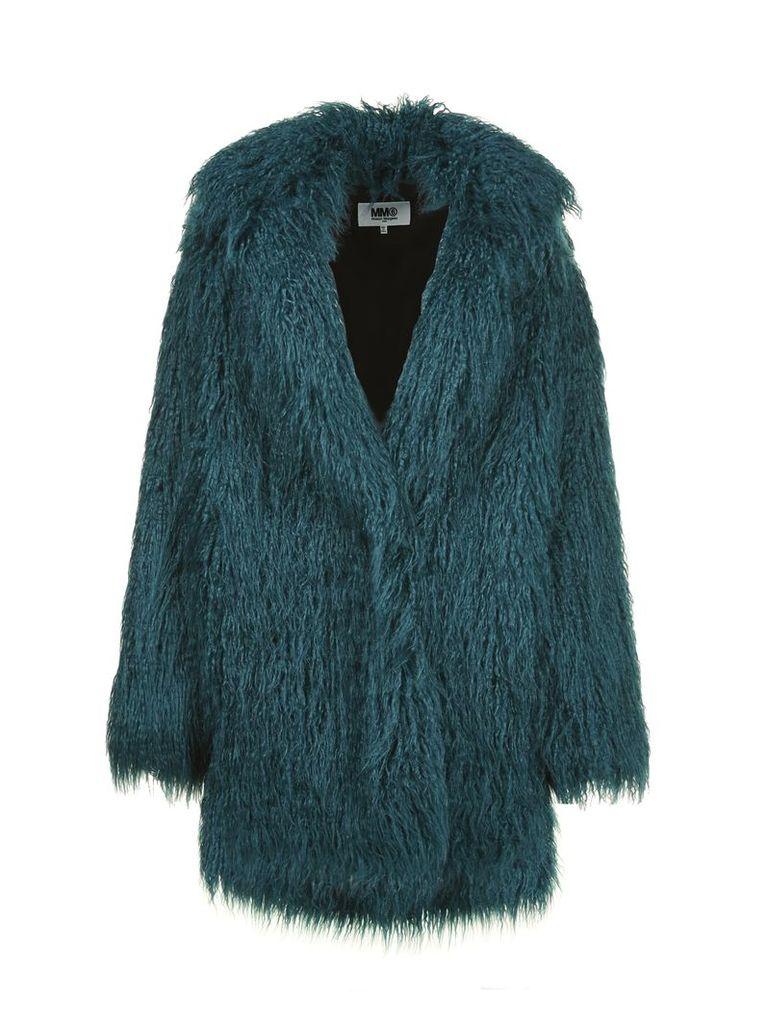 Mm6 Maison Margiela Fur Midi Cardi-coat