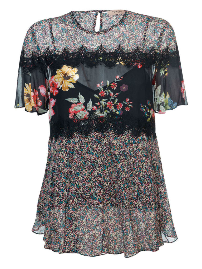 Twin-set Floral Blouse