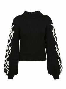 Alanui Geometric Star Intarsia Sweater