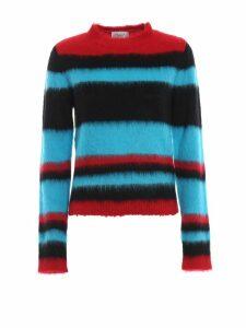 Dondup Colour Block Fluffy Mohair Blend Sweater