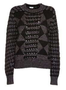 Saint Laurent Lurex Wool Graphic Jumper