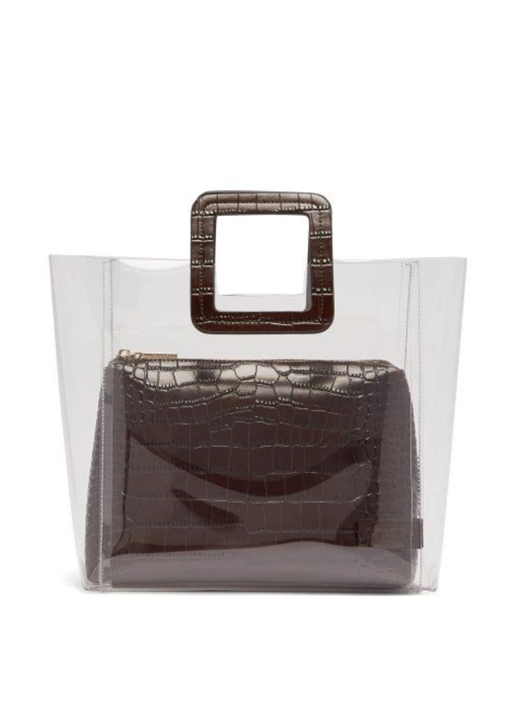 Staud - Shirley Leather & Pvc Tote - Womens - Brown
