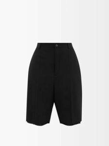 Balenciaga - Intarsia Logo Wool Blend Sweater - Womens - Red