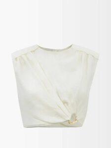 Rianna + Nina - Helena Neoprene And Silk Dress - Womens - Pink Multi