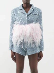 By Walid - Ofra Antique Silk Skirt - Womens - Pink Multi