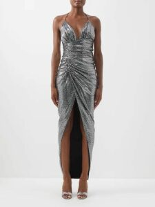 Germanier - Bead Embellished Twill Blazer - Womens - Yellow