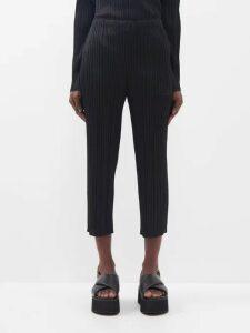 Raey - Deep V Fine Rib Cashmere Dress - Womens - Black