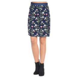101 Idees  Embroidered skirt with elasticated waistband  women's Skirt in Blue