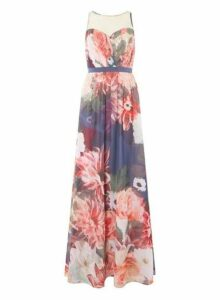 Womens **'Showcase 'Alissa' Floral Printed Maxi Dress- Fl Multi, Fl Multi
