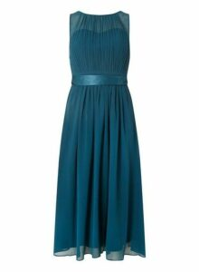 Womens **Showcase Tall Green 'Bethany' Midi Skater Dress- Green, Green