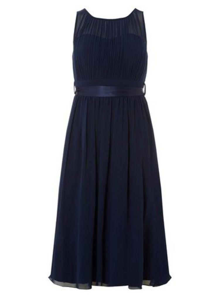 Womens **Showcase Navy 'Bethany' Midi Dress- Blue, Blue