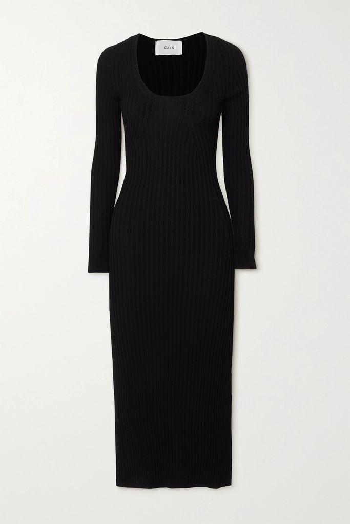 STAUD - Edie Croc-effect Leather Tote - Brown