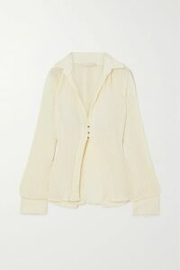 Emilia Wickstead - Michelle Houndstooth Tweed Blazer - Gray